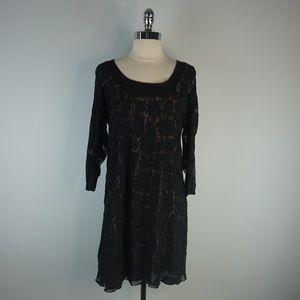 Lior Paris Black Leopard Dress